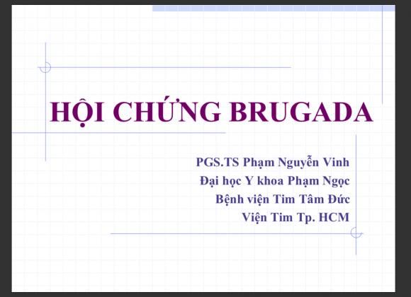 Hội chứng Brugada