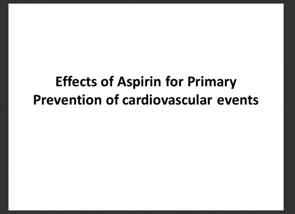 Effects of Aspirin for Primary Prevention of cardiovascular