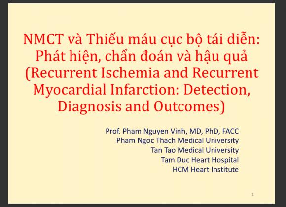 Nhồi máu cơ tim và Thiếu máu cục bộ tái diễn Phát hiện, chẩn đoán và hậu quả
