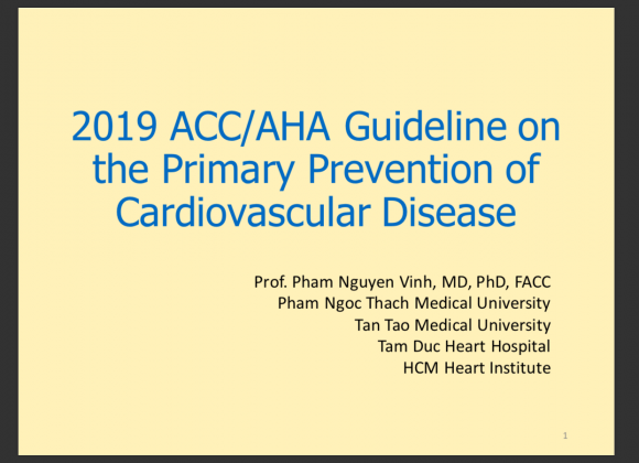 2019 ACC AHA Guideline on Primary prevention of Cardiovascular Disease