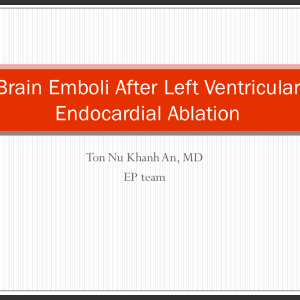 Brain Emboli After Left Ventricular Endocardial Ablation