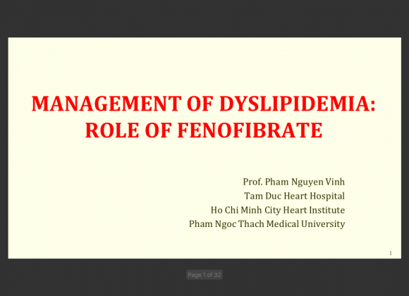 2016 Management of Dyslipidemia- Role of fenofibrate