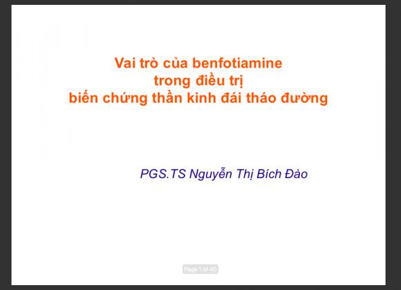Benfotiamin – BV Tim Tam Duc