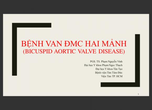 Bệnh van ĐMC hai mảnh (Bicuspid aortic valve disease)